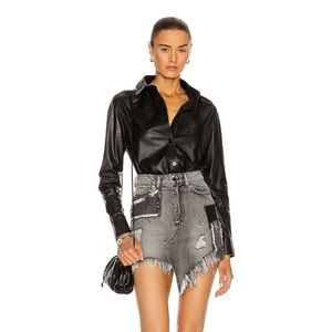 NWT Retrofête Irene Mini Skirt Patchwork in Ash